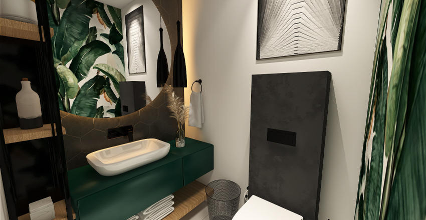 Łazienka WC Interior Design Render