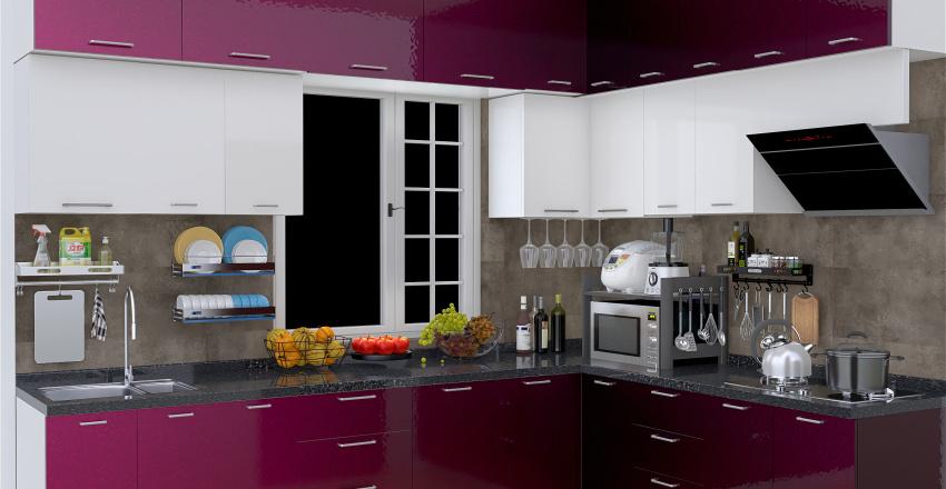 modular kitchen Interior Design Render