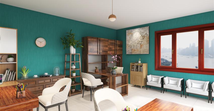Diseño de despacho contable - Kathia Ramos  Interior Design Render
