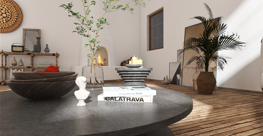 Living room + Lounge Interior Design Render