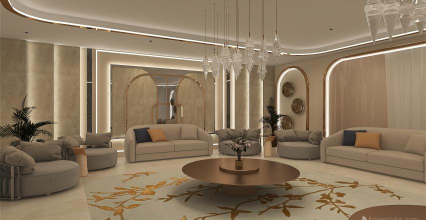 مجلس Interior Design Render