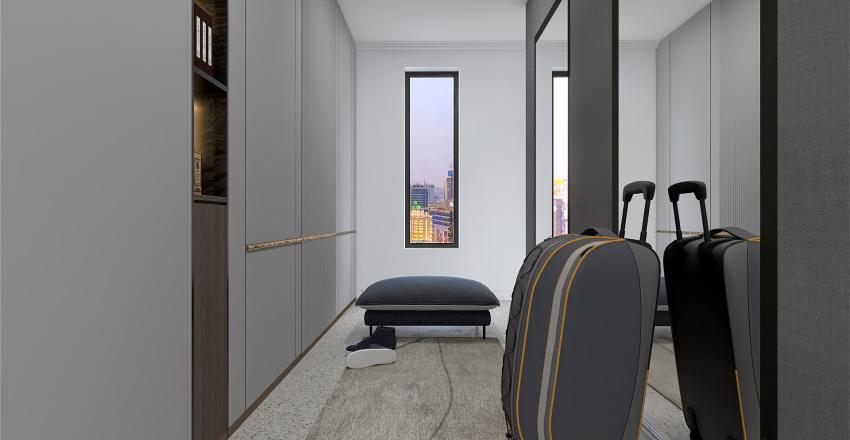 City Apartment, Shadow Grey Interior Design Render