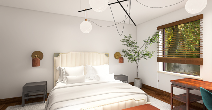 city townhouse with colours Interior Design Render
