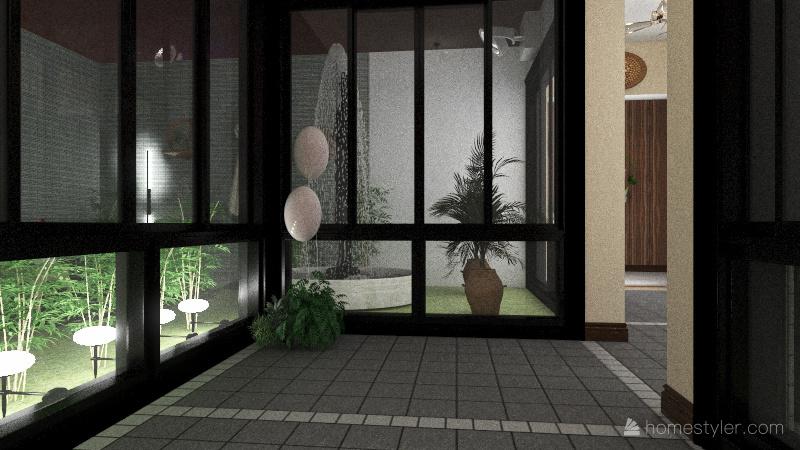 outdoor background Interior Design Render