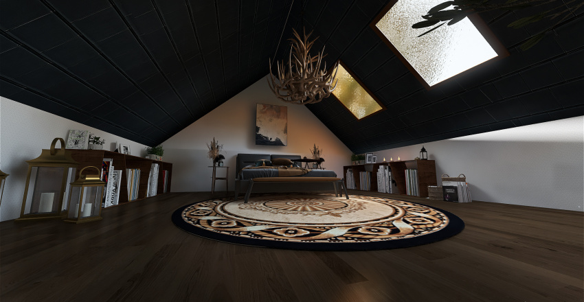 Country small house Interior Design Render
