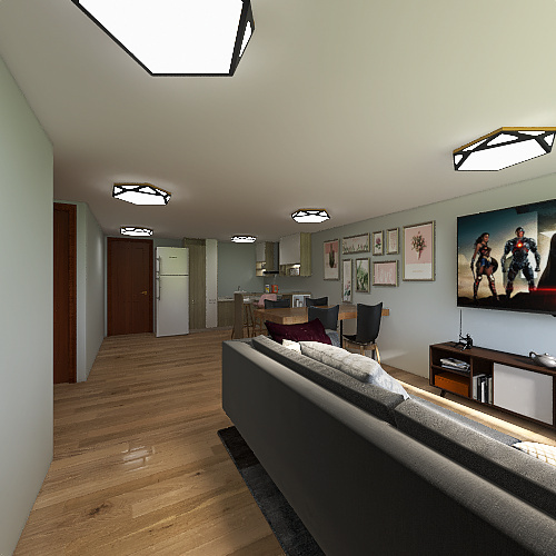 6 x10 Interior Design Render