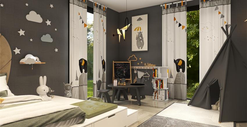 kid's bedroom Interior Design Render