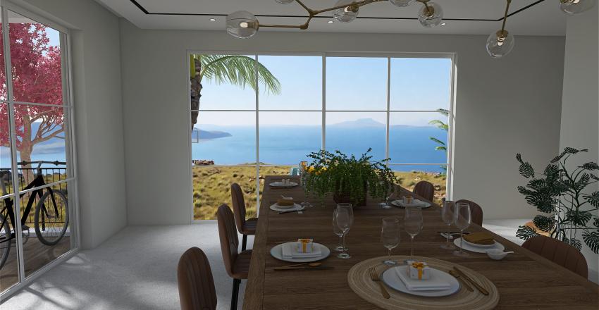 Clean Slate Dining room Interior Design Render