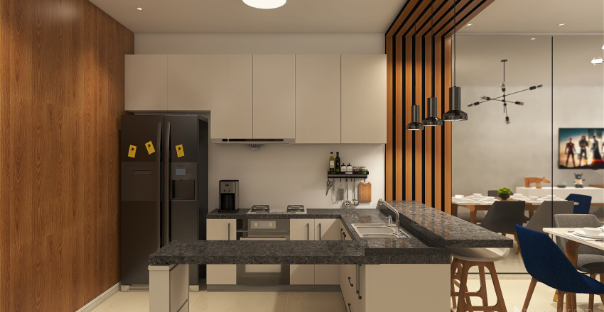 Apto 5H Interior Design Render