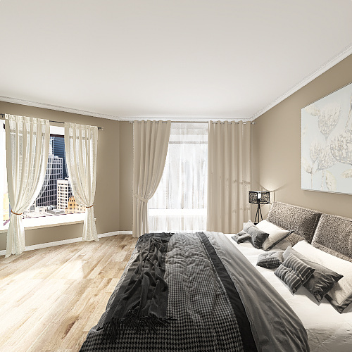 NYC flat Interior Design Render