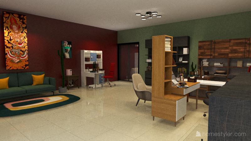 OFICINA KENIA TENORIO Interior Design Render