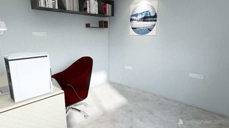 Cuarto de Oficina Interior Design Render