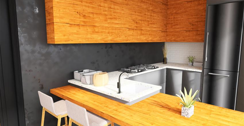 appartement style industriel Interior Design Render