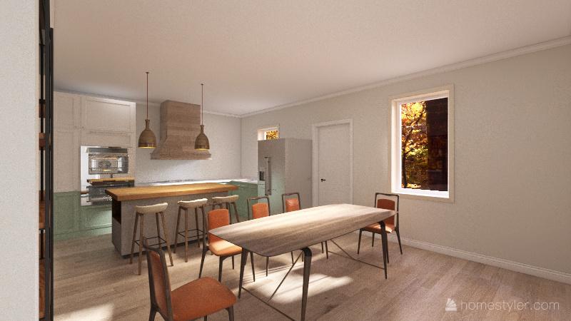 Moore Modern Interior Design Render
