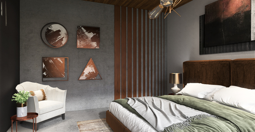 Seaside vacation house Interior Design Render