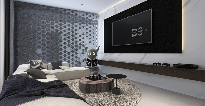 Ebony & Ivory Interior Design Render