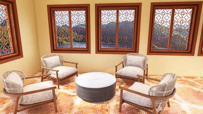 Pool and Recreation Area Interior Design Render