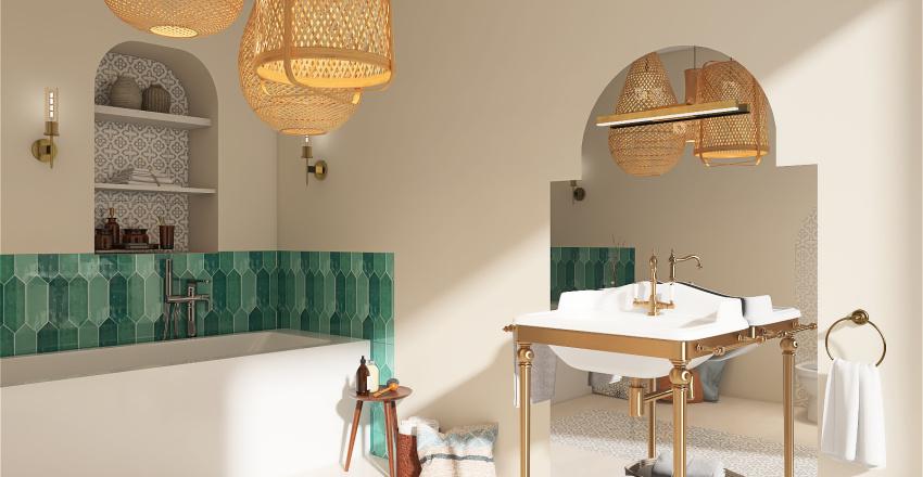 MOROCCAN BATHROOM Interior Design Render