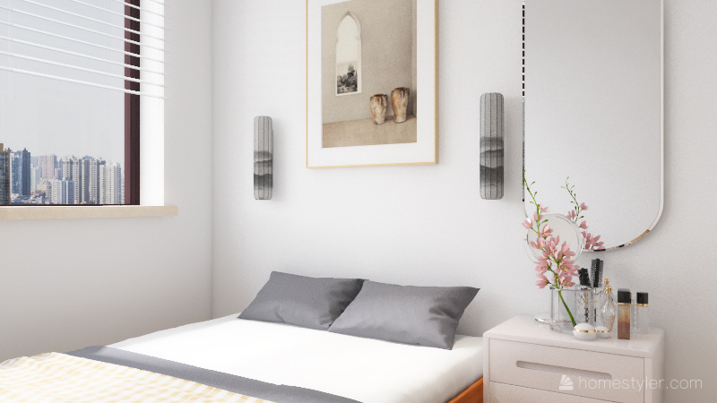 UNIT 1 - 50 sqm for small family Interior Design Render