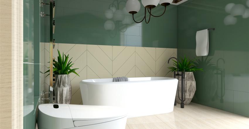 Családi ház fürdő tervezése Interior Design Render