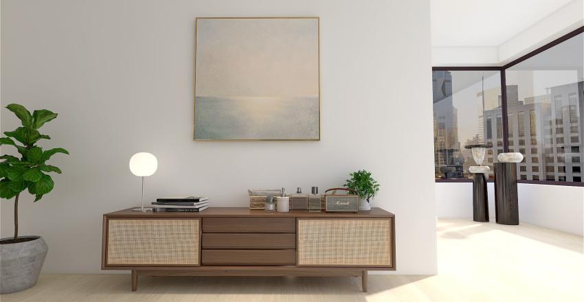 Simple Studio Apartment Interior Design Render