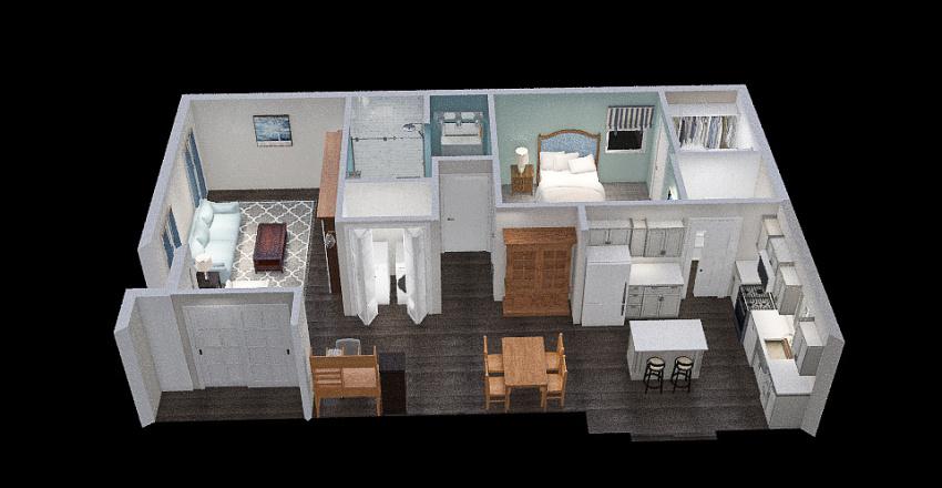 Final Addition 3 - l-shaped bath kitchen rework Interior Design Render
