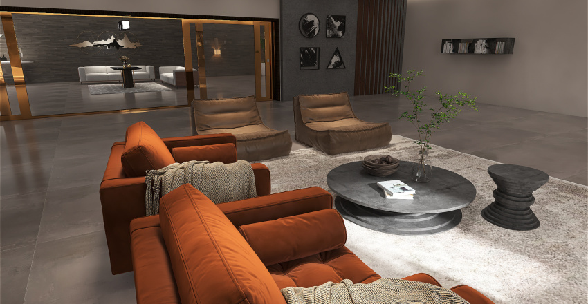 leaving room Interior Design Render