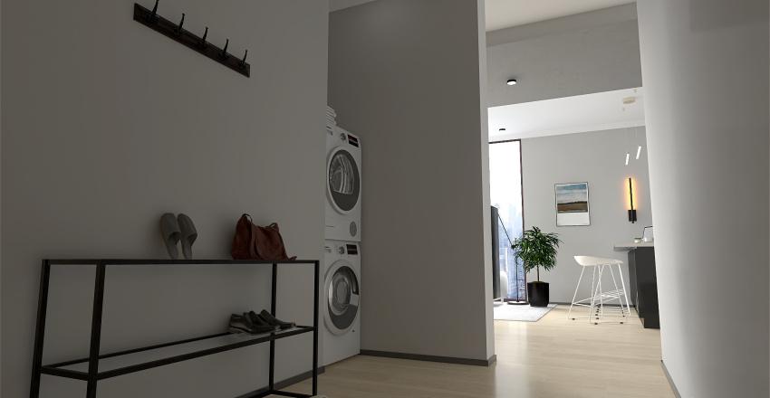 Masculine Apartment  Interior Design Render