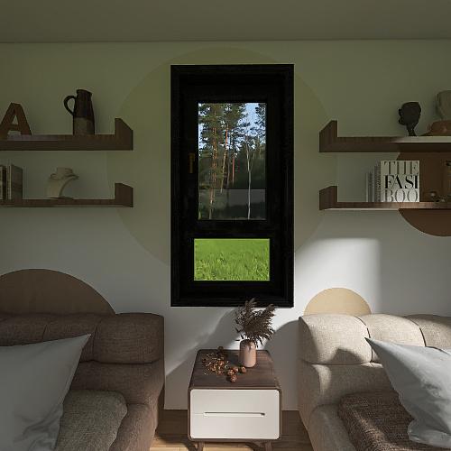 2 teen girls room Interior Design Render