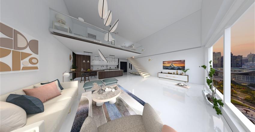 dreamy studio Interior Design Render
