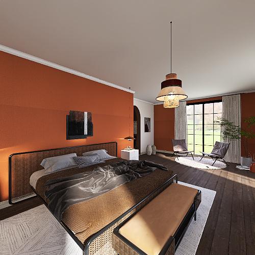 Italian Minimalism Interior Design Render
