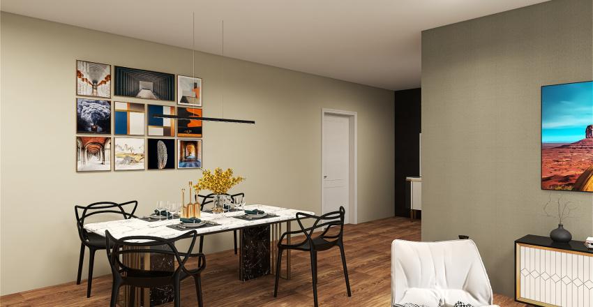 Trilocale Dese Interior Design Render