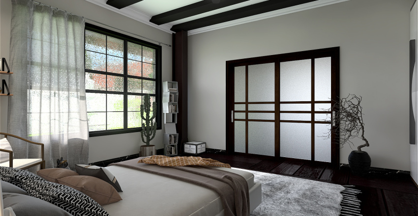 Orange loft Interior Design Render