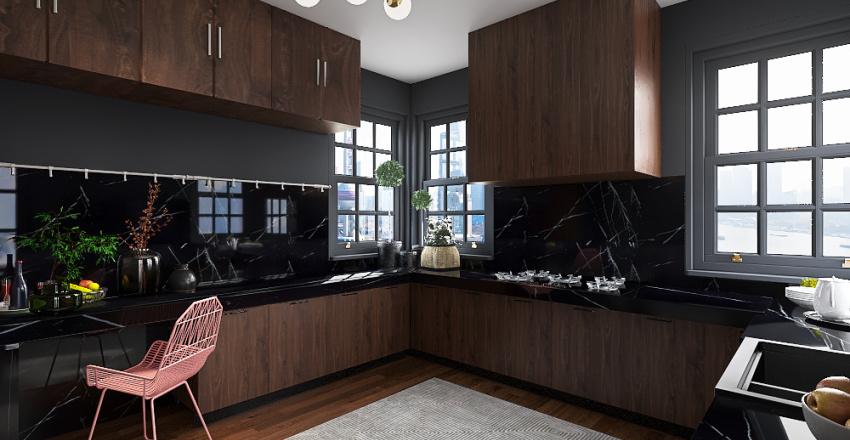 dark moody Interior Design Render