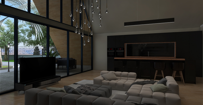 A  House project Interior Design Render