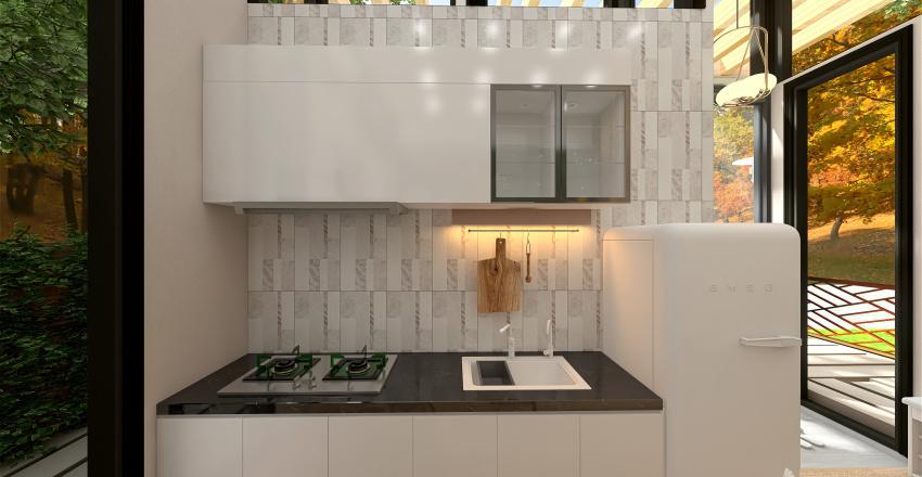 Close to Nature Tiny House Interior Design Render