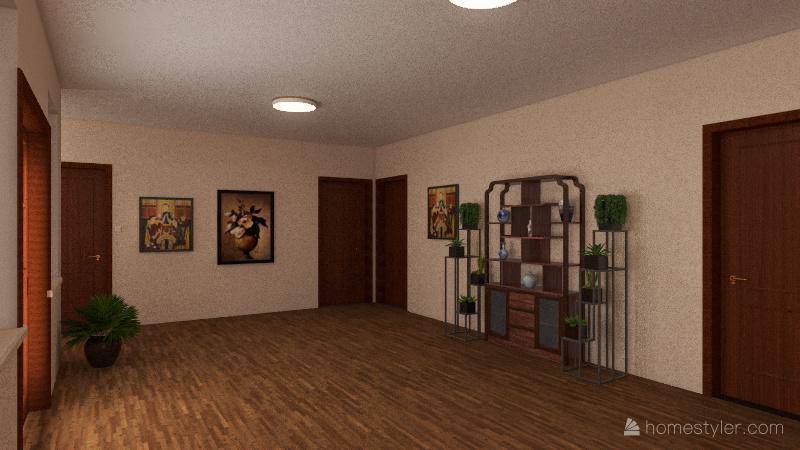 Single story dream house Interior Design Render
