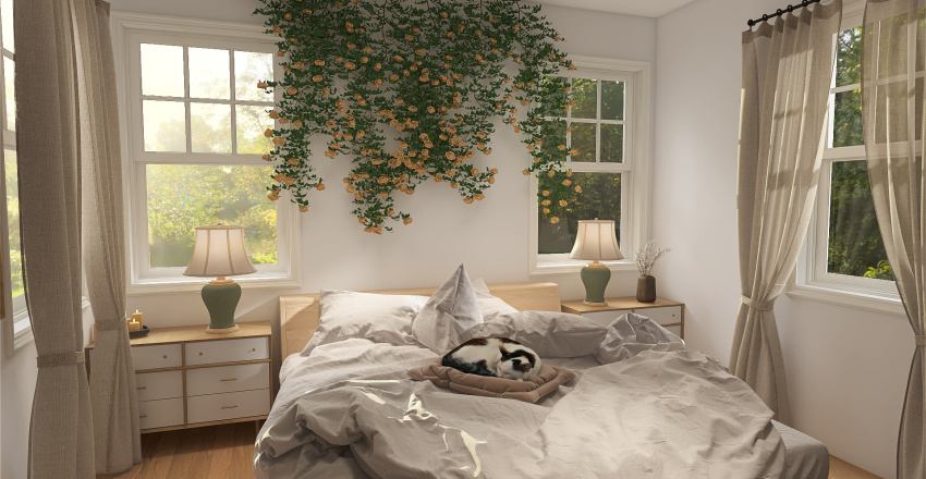 cottagecore spring house.  Interior Design Render