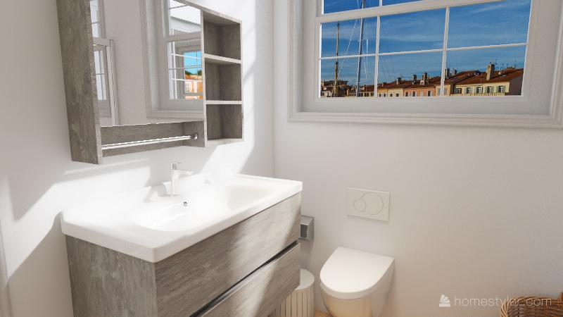 Student Apartment Interior Design Render