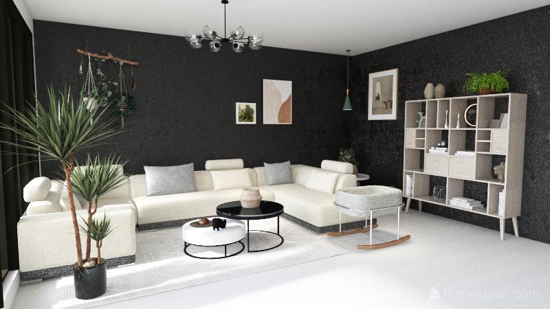 Skandynawski Interior Design Render
