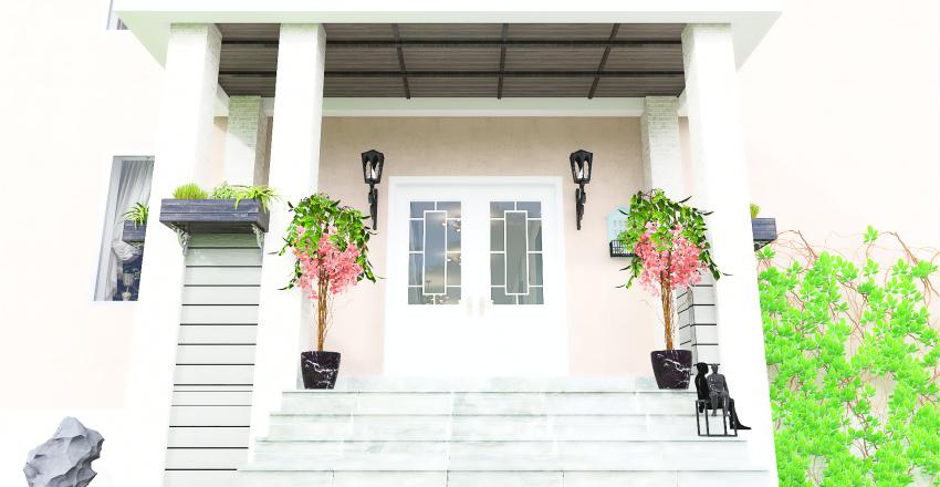 modern funkis house Interior Design Render