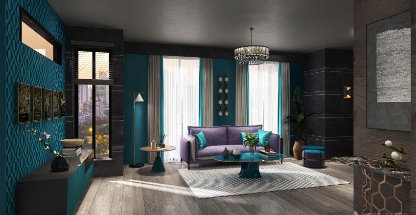 Executive Hotel Suite Interior Design Render
