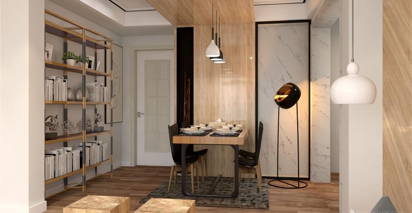 Rusticidad Matizada Interior Design Render