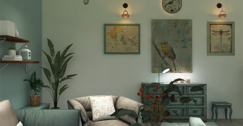 MY LITTLE TURQUOISE Interior Design Render