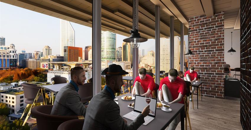 Coffee Shop (Café Amadeo) | #ModernIndustrialism Interior Design Render