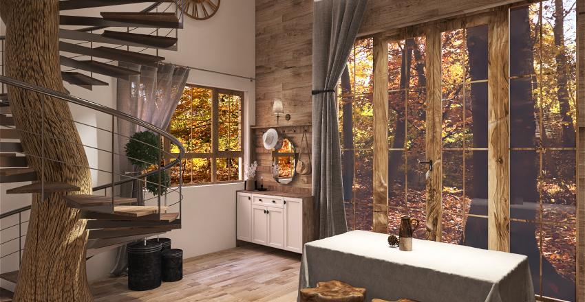 Mountain Chalet Interior Design Render