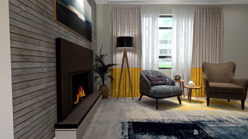 My Living Room Re-design Interior Design Render