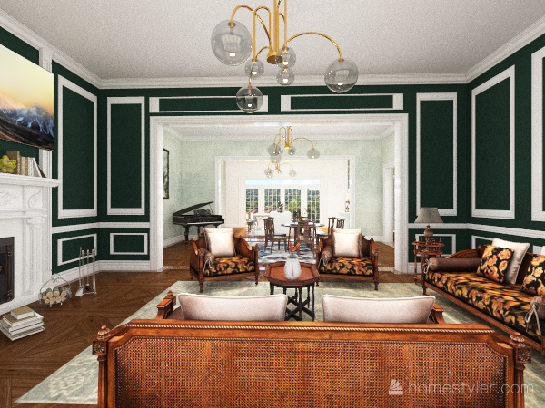Italianate Estate Interior Design Render