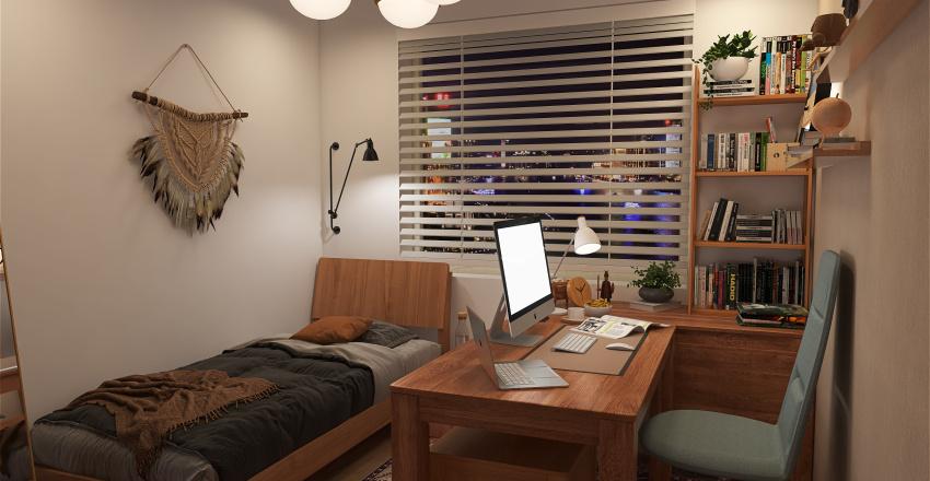 tiny workspace Interior Design Render