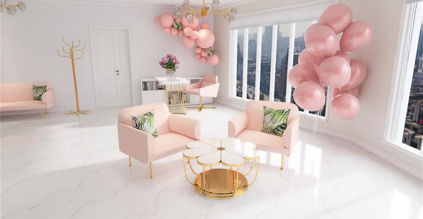 Beauty Salon Interior Design Render
